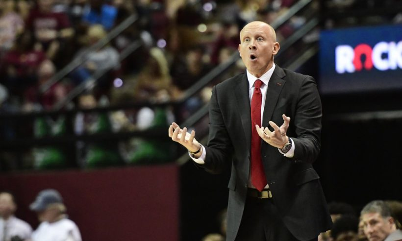 Chris Mack, excited we're projecting his Louisville Cardinals as a 1 seed. (Photo by David Allio/Icon Sportswire)
